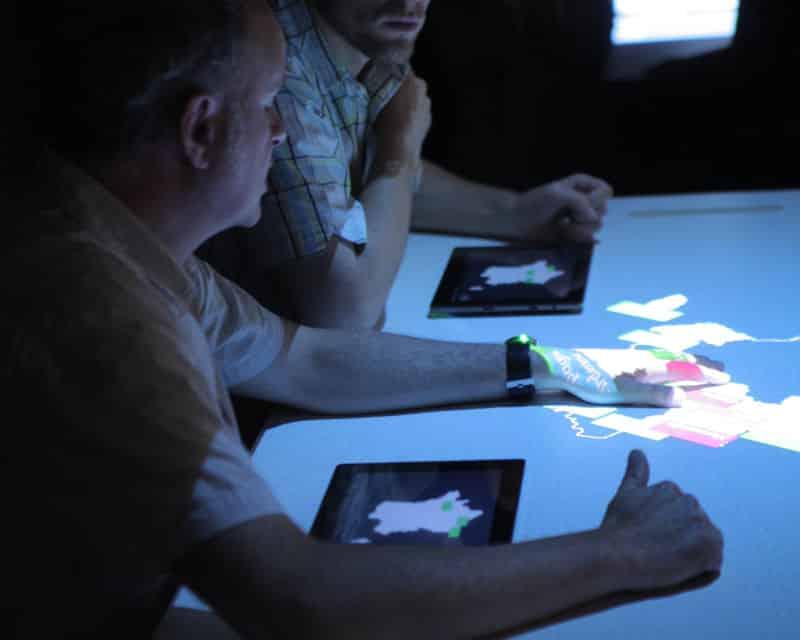Jeu interactif sur tablettes tactiles