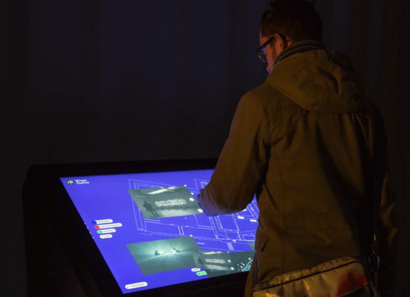 Plan interactif sur la table tactile Mosaïque